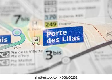 Porte des Lilas Station. 11th Line. Paris. France