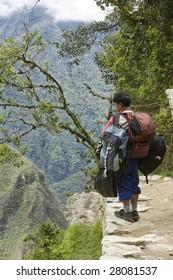 Porter for the inca Trail in Peru