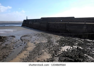 Porthcawl habour breakwater and light house