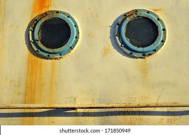Porthole on the old ships