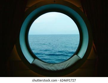 Porthole on Ship