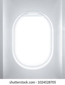 Porthole of a plane closeup