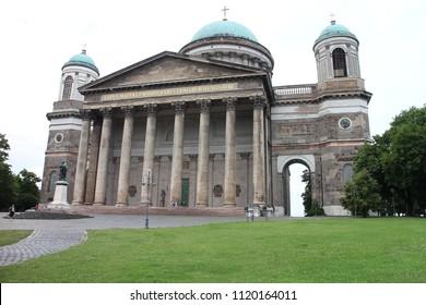 Portico of Esztergom Basilica, Esztergom, Ostrihom, Hungary