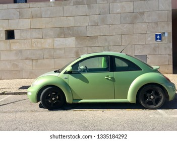 PORTIMAO, PORTUGAL - MARCH 2: New Beetle in the street of Portimao on March  2, 2019.