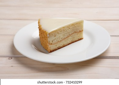Portion of cheesecake on plate
