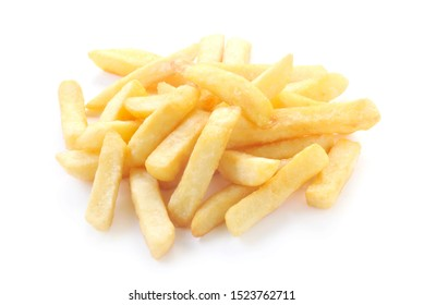 A Portion Of Chips Isolated On White