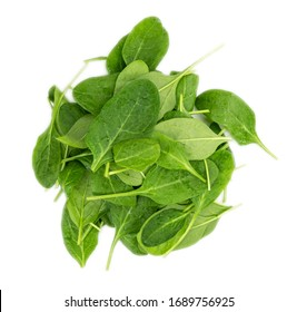Portion of fresh Spinach isolated on white background