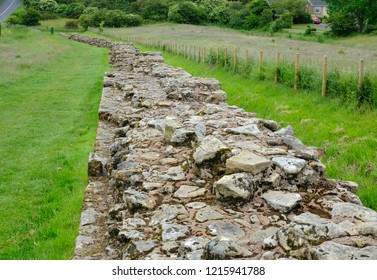 A portion of Hadrian's Wall at Heddon on the Wall, England, UK