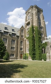 A portion of Ives Hall at Cornell University.  An ivy league place of higher learning in New York State.