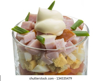 Portion of Russian salad