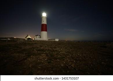Portland Bill Light House, Portland, Dorset, United Kingdom, taken at night on a long exposure