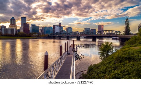 Portland Cityscape at Sunset