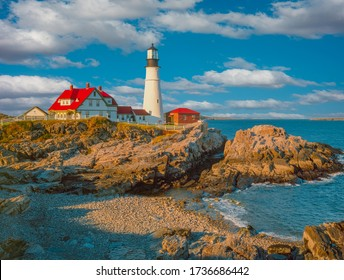 Portland Head Light is in Cape Elizabeth, Maine. It is in the Fort Williams Park and is the oldest lighthouse in Maine.
