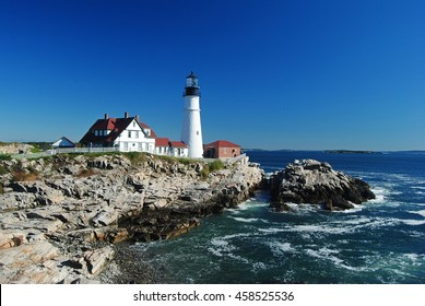 Portland Head Light in Cape Elizabeth, Maine.