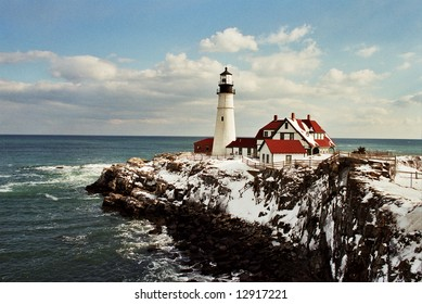 Astounding New England Lighthouse Winter Stock Photos Images Download Free Architecture Designs Scobabritishbridgeorg