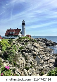 Portland Head Light lighthouse during the day