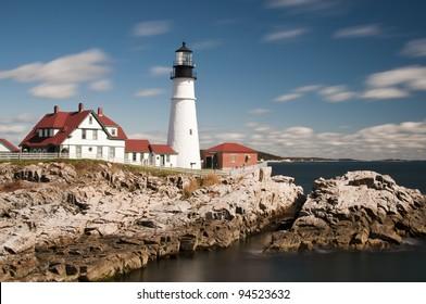 Portland Head Light Lighthouse in Maine, New England, USA