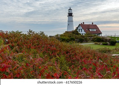 Portland Head Lighthouse, Cape Elizabeth, Fort Williams Park, Portland, Maine is one of the oldest lighthouses in continuous use in the country