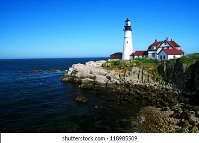 The Portland Head Lighthouse located in Portland Maine