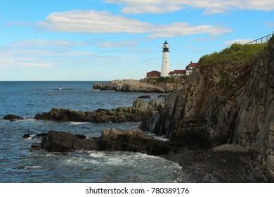 Portland Head Lighthouse in summer