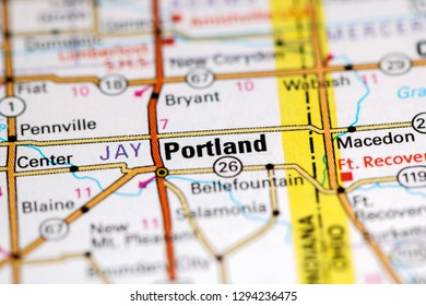 Portland Map Stock Photos Images Photography Shutterstock
