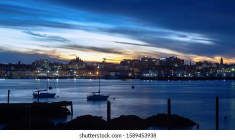 Portland, Maine Blue Hour Skyline