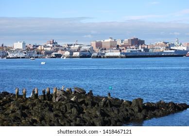 Portland Maine Skyline from South Portland