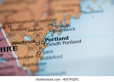 Portland Maine Map Stock Photos, Images & Photography