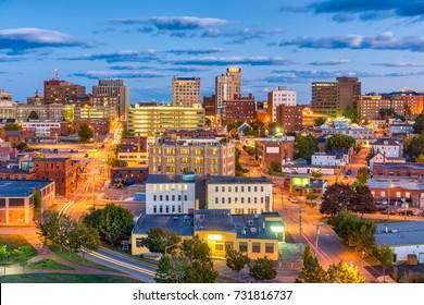 Portland, Maine, USA downtown cityscape.