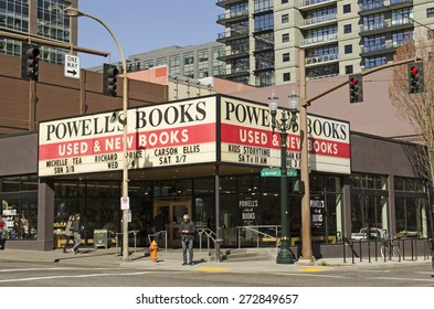 Portland, OR, USA - March 7, 2015: Powell's city of books is the worlds largest used and new bookstore