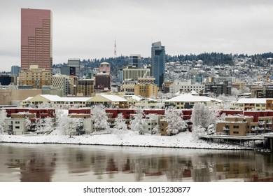 Portland, Oregon, after heavy winter snowstorm