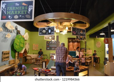 PORTLAND, OREGON – AUG 23: Portland Children's Museum in Washington Park in Portland, Oregon, as seen on Aug 23, 2018. Founded in 1946, it is the 6th oldest childrens museum in the world.