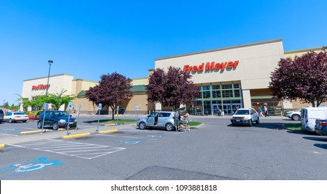 Portland, Oregon - May 14, 2018 : Fred Meyer, Inc., is a chain of hypermarket superstores