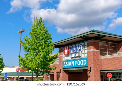 Portland, Oregon - May 21, 2018 : H Mart, Asian food, Korean Grocery Store in Portland