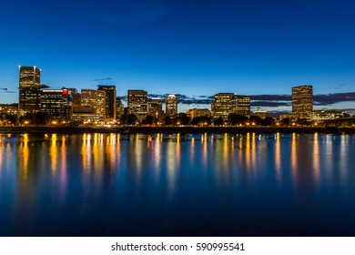Portland, Oregon at night