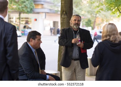 PORTLAND, OREGON SEPTEMBER 2016, Jason Patrick, defendant in the February 14th, 2017 trial outside the courthouse during the first trial of the occupation of the Malheur National Wildlife Refuge