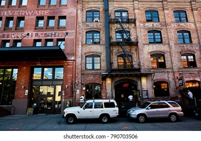 PORTLAND, OREGON - September 2017: Warehouses in the Pearl District of Portland