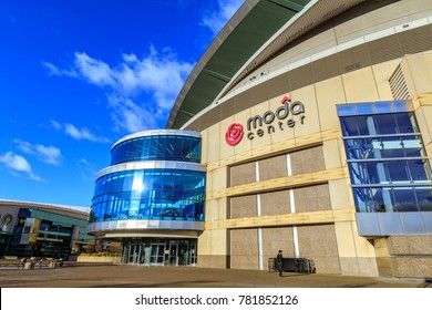 Portland, Oregon, United States - Dec 20, 2017 : Moda Center, formerly known as the Rose Garden, is the primary indoor sports arena in Portland.