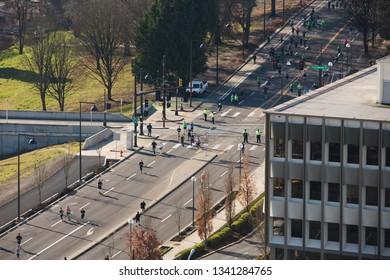Portland, Oregon / United States - March 17 2019: Shamrock Run