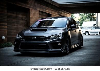 Portland, Oregon / United States - October 11 2018: Subaru WRX