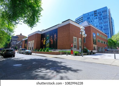 Portland, Oregon, USA - April 26, 2018 : Portland Art Museum, Variety of collections include Asian, American & Native American art, plus touring shows & theater.