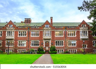 Portland, Oregon, USA - March 4, 2016: Reed College is a private liberal arts college in southeast Portland in the U.S. state of Oregon.