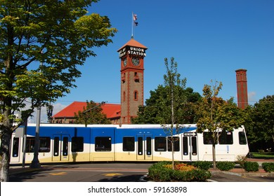 Portland Oregon's Union Station in Old Town - Pearl District area.