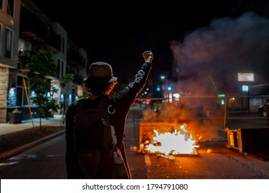 Portland protest has been ongoing since George Floyd's death. Many protesters were demanding to correct the systematic problem and defund the police. Photos were taken in Portland, OR,USA on 8/9/2020