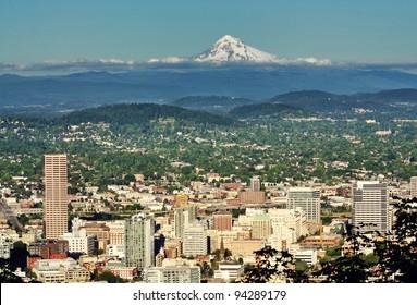 Portland skyline from Pittock mansion