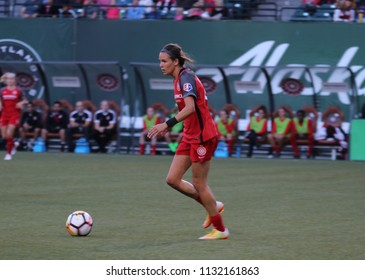 The Portland Thorns FC at Providence Park  in Portland,OR USA July 6,2018.