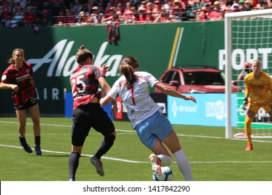Portland Thorns vs the Chicago Red Stars at Providence Park in Portland, Oregon/USA June 2nd 2019.