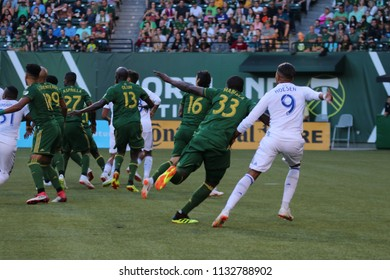 The Portland Timbers at Providence Park in Portland Oregon USA July 7,2018.