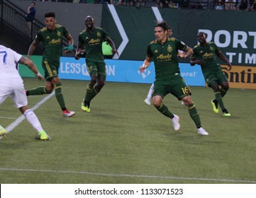 The Portland Timbers at Providence Park in Portland Oregon USA July 7,2018