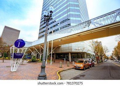 Portland, United States - Dec 19, 2017 : The building of World Trade Center, Business center in Portland